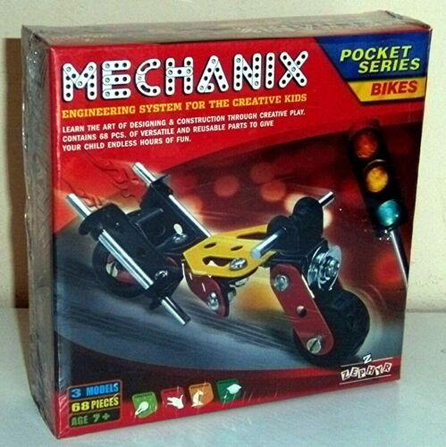 + Metallbaukasten Baukasten Mechanix  - BIKES  - 68 Teile