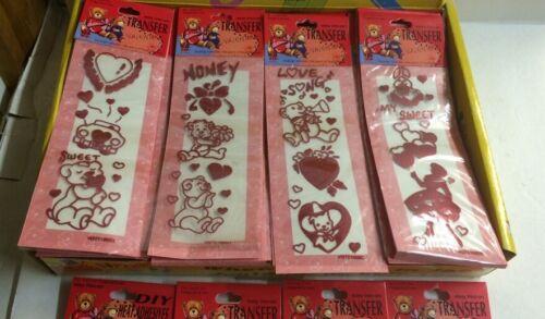 144pc Iron On Transfer Valentine Bear Love Wholesale party favor prizes .12c ea