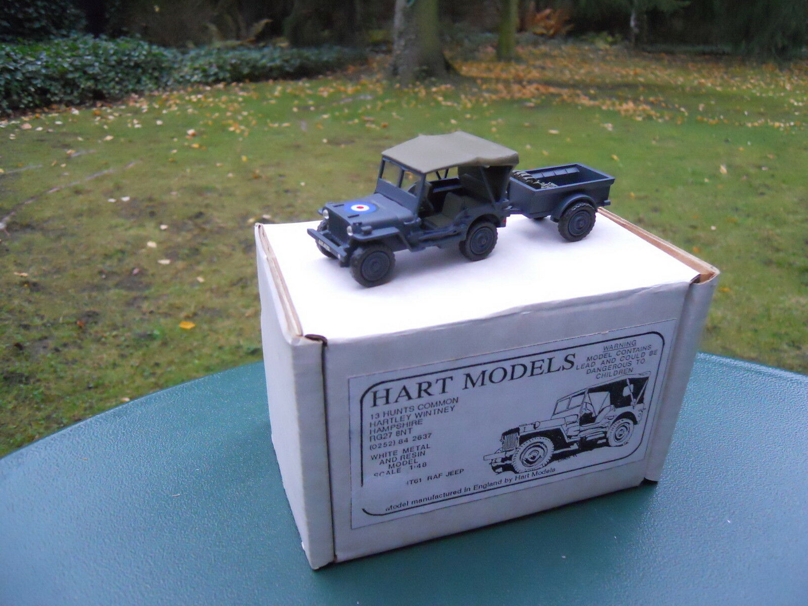 VEHICLE MILITARY HART MODELS REF HT 61 JEEP WILLYS RAF + TRAILER MIB