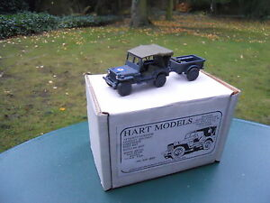 VEHICULE-MILITAIRE-HART-MODELS-REF-HT-61-JEEP-WILLYS-RAF-REMORQUE-MIB
