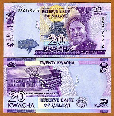 100  KWACHA  2016  Prefix AX P 65b  Uncirculated MALAWI