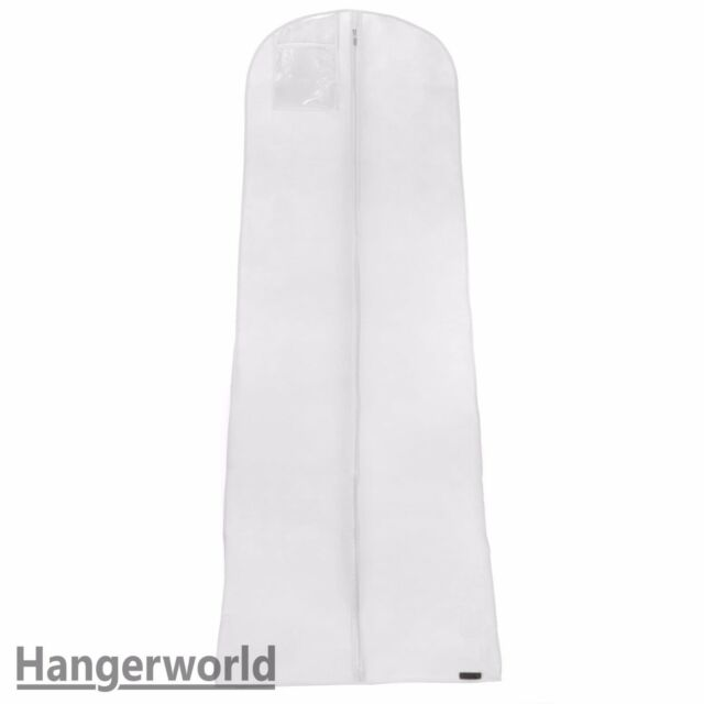 Hangerworld 72 White Breathable Wedding Gown Dress Garment Bag | eBay
