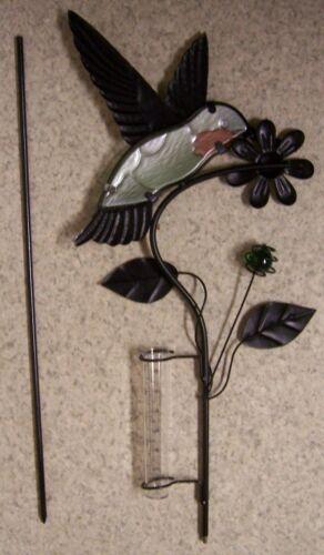 "12.5 cm #2 Rain Gauge Humnmingbird NEW metal with plastic tube measures 5/"""