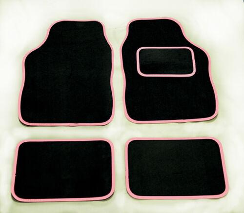 Vauxhall Corsa Voiture Universel Tapis De Sol Tapis Noir /& Rose Bordure