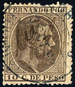 FERNANDO-POO-8-USADO-ALFONSO-XII-MANUSCRITO