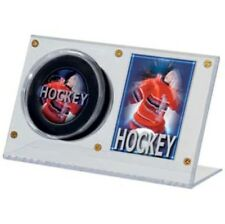 (24) Ultra Pro Acrylic Clear Hockey Puck & Card Holder Displays - NEW