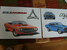 new posters  1970 and 1971  dodge challenger rt