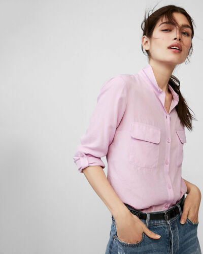 Long Express Blouse 09702809 City Buttoned S Nwt Shirt Top Lilac Sleeve Down wBFUTqI