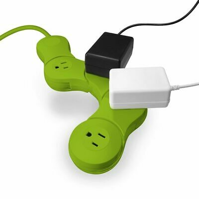 Quirky Pivot Power Junior 4 Outlets Power Strip w// Surge Protector White
