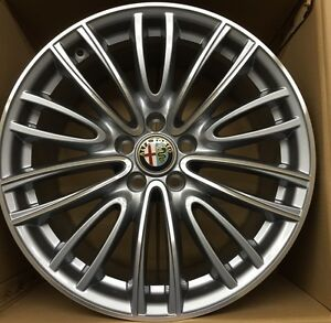 alfa romeo original felgen giulia wheels rims velgen jantes cerchi 18 diamand ebay. Black Bedroom Furniture Sets. Home Design Ideas