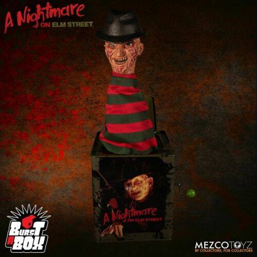 Mezco Toys Nightmare on Elm Street Freddy Krueger Burst-A-Box* FACTORY SEALED*