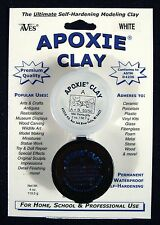 Aves Apoxie Clay White 2-Part Self-Hardening Modeling Clay 1/4 lb