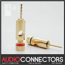 4 x 2mm HI-FI PIN audio connettore JACK/banana Plug Adattatore-Cavo (pj1)