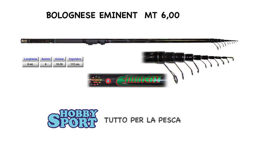 CANNA BOLOGNESE modello EMINENT   MT 6,00 FIUME - MARE