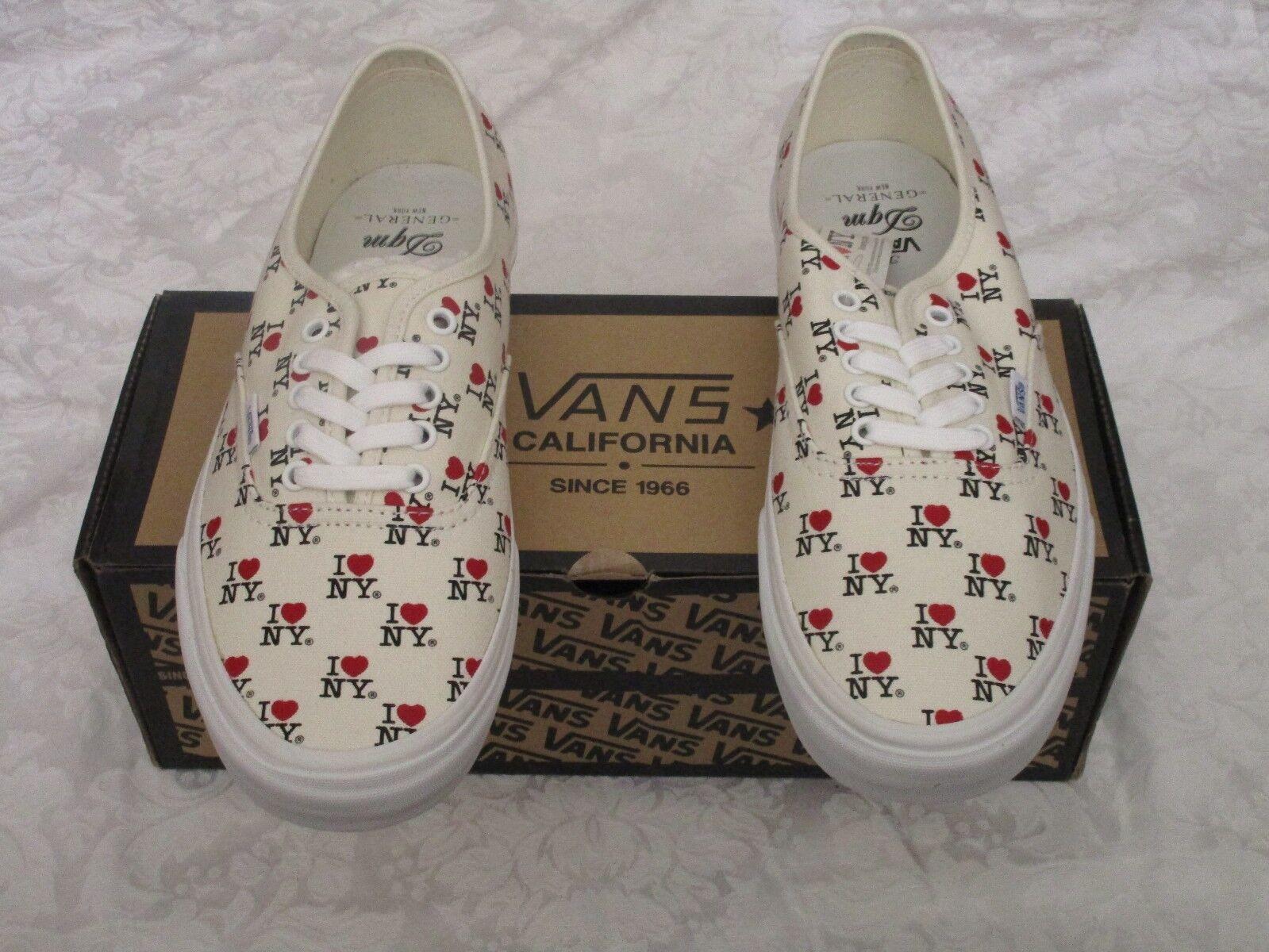 Vans Authentic CA I Heart Love New York NY White VN-0JWI9M6 Size 10.5   da Ginnastica