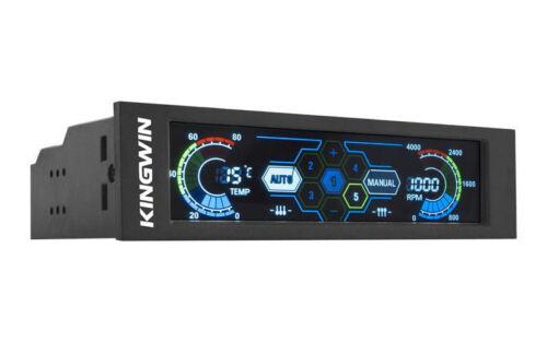 Kingwin FPX-007 5.25inch Bay Touchscreen LCD 5xCh Fan Controller//Temp Monitor