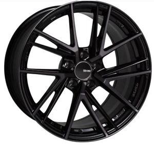 18x9 5 Enkei Rims Td5 5x114 3 38 Pearl Black Rims Fits Mazda 3