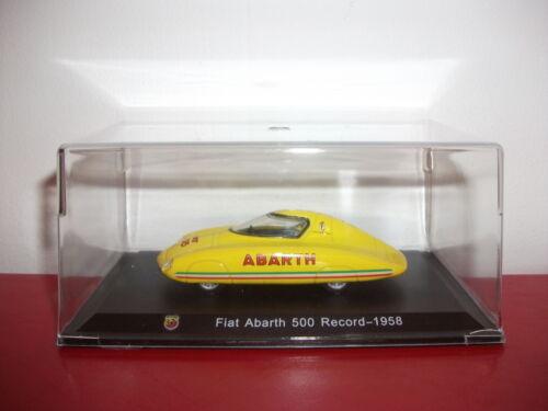 fiat abarth 500 record 1958 collection ABARTH Italie 1//43 METRO hachette