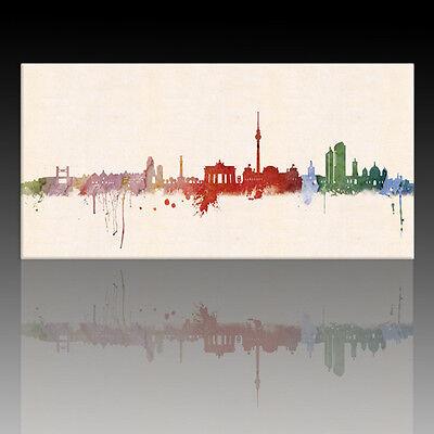 "Bild auf Leinwand - echt Kunstdruck vom Künstler ""Paul London"" - Berlin Skyline"