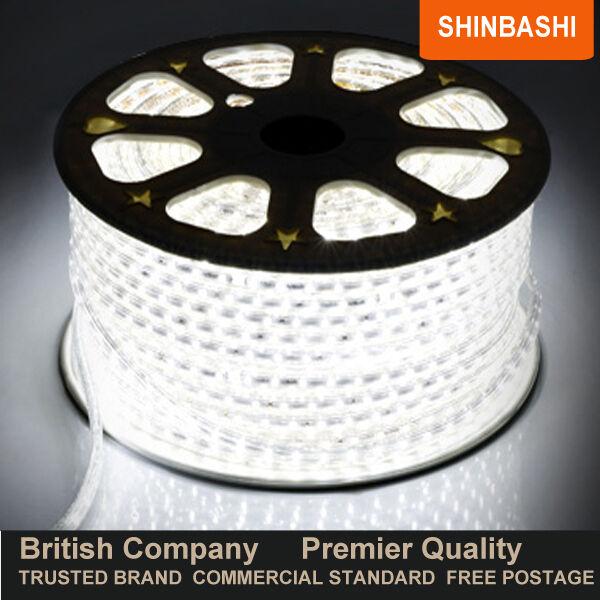 Premier Led 220v 240v Cool blancoo Smd 5050 Cinta Tiras Cuerda Luces 5m 10m 15m 2