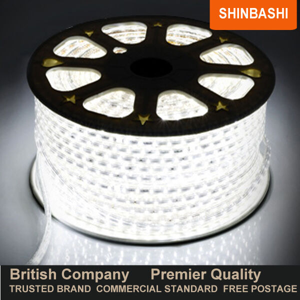 PREMIER LED 240v Cool White SMD 5050 Ribbon Strips Rope Lights  FULL SET UK 5yr
