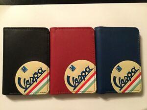 VESPA - Porte carte - similicuir, métal - bleu