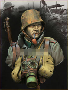 1-10-resin-figures-bust-model-kit-WW-I-assault-force-soldier-bust-X15-resin-kit