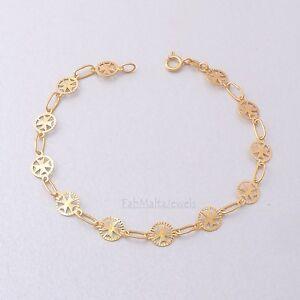 MALTESE CROSS of St John Amalfi Hallmarked 375 9ct Gold Bracelet ... 9a8fbf0c72a2