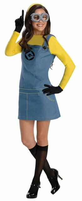 Adult Womens Despicable Me Famale Minions Costume Outfit Halloween Fancy Dress