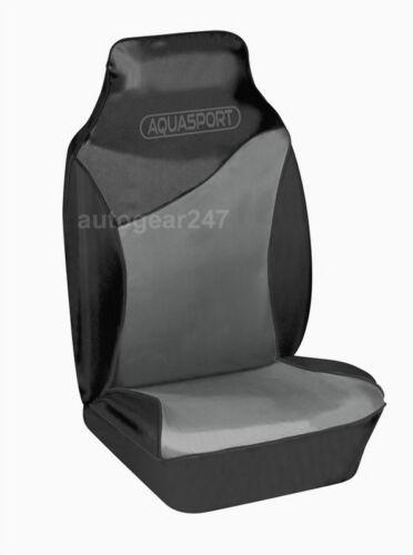 Black Grey Water Resistant Car Aquasport Air Bag friendly Front Seat Covers Pair