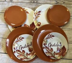 Thanksgiving, Holiday, Fall 10 1/4 Inch Dinner and 7 1/2 Inch Salad Plate Set