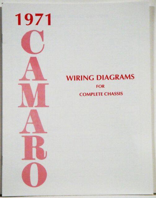1971 Camaro Factory Wiring Diagram Manual
