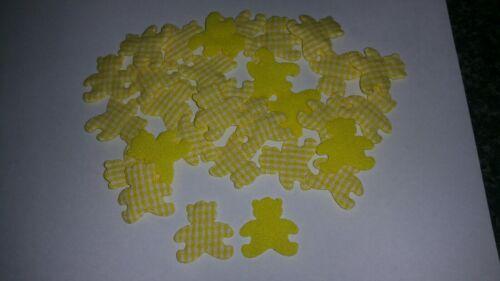 Lote 30 X 25x25mm Amarillo Guinga Acolchado Peluches de elaboración de tarjetas