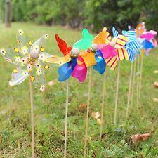 Delicieux 9 X DECORATIVE GARDEN WINDMILLS Flower Bed Plant Pot Ornament Art Decoration  Set