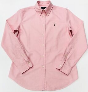 Ralph-Lauren-Oxford-Shirt-Ajustement-Personnalise-en-Rose-Saumon