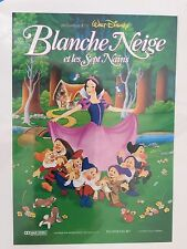 DISNEY ORIG FRENCH MOVIE POSTER SNOW WHITE AND THE 7 DWARFS - NEW - SEALED