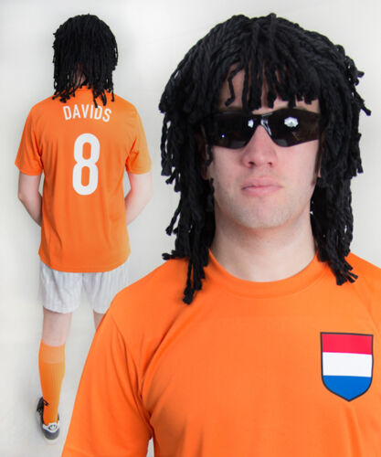 Edgar Davids Holland 80/'s 90/'s Football Fancy Dress Costume ideal for Stag Party