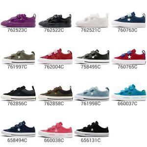 Converse-One-Star-2V-3V-Straps-Women-Kids-TD-Toddler-Infant-Shoes-Sneaker-Pick-1
