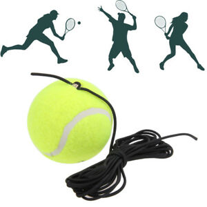 High Quality Rubber Woolen Training Trainer Practice Tennis Balls With String 788988520672 Ebay
