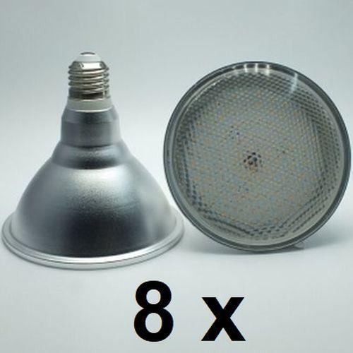 8 x 18 Watt PAR 38 LED Lampe E27 warmweiß 120° Ausstrahlung, =150 Watt Glühlampe