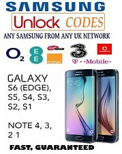UNLOCK CODE SAMSUNG GALAXY NOTE 8 S9 S8 PLUS S7 EDGE S6 EDGE S5 O2 EE VODAFONE