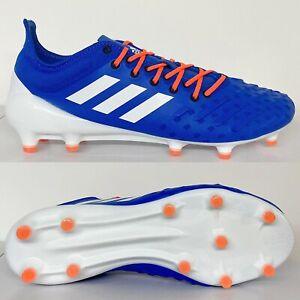 Adidas Predator XP FG Homme Rugby Bottes Bleu Orange Taille 8 8.5 9 9.5 10 11 12 13
