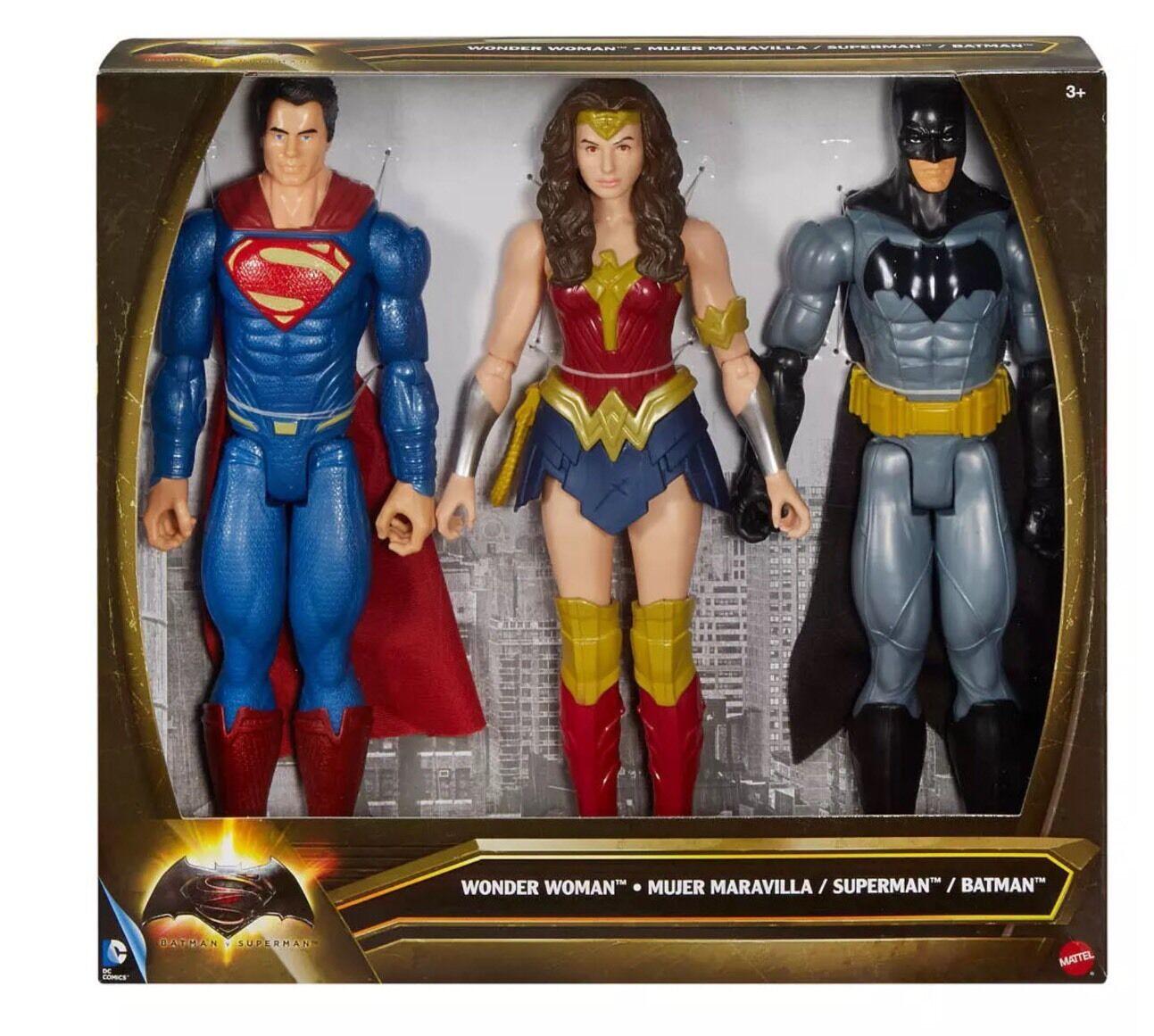 Nuevo Superman Batman V 12 Pulgadas Figuras 3-Pack incluye Wonderwoman