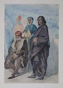 Tony-Robert-Fleury-1837-1912-Aquarell-um-1865-Palast-Luxemburg-Paris