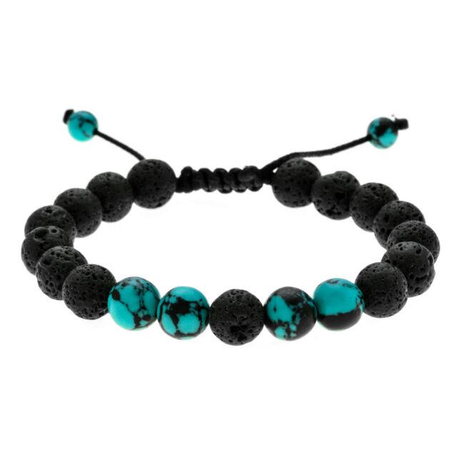 Stone Bracelet Fashion Natural Black Women Lava Volcanic Buddha Bead Adjustable