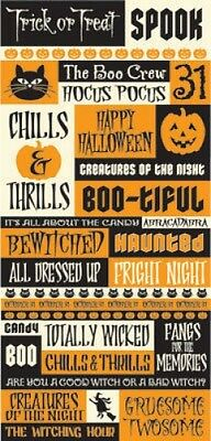 Reminisce HALLOWEEN QUOTE Stickers Scrapbooking Cardmaking Papercrafting