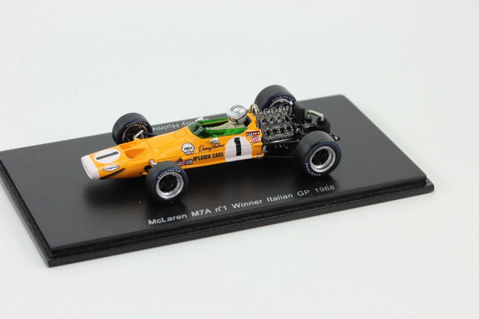 Spark McLaren m7a  1 Winner Denny Hulme  GP  f1 1 43 Spark s3109 en neuf dans sa boîte  le plus préférentiel