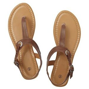 7d5265b2a74 Rekayla Flat Thong Sandals with T-Strap and Adjustable Ankle Buckle ...