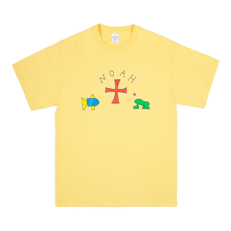 NOAH Frog x Noah Logo Tee Gelb Größe Small