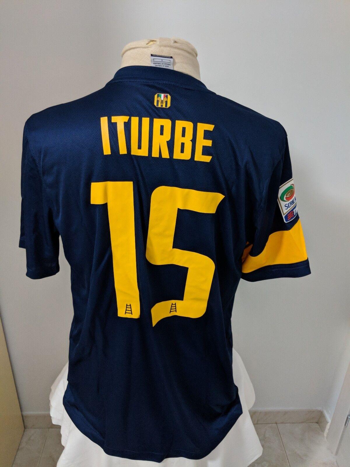 Soccer jersey Verona 2013 14 n 15 Iturbe match worn issued shirt shirt Paraguay